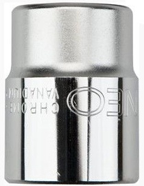 "NEO Hexagonal Socket Cr-V 18mm 1/2"""