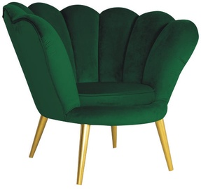 Signal Meble Magnolia Velvet Armchair Green/Gold