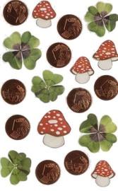 Herlitz Stickers Mushrooms And Money