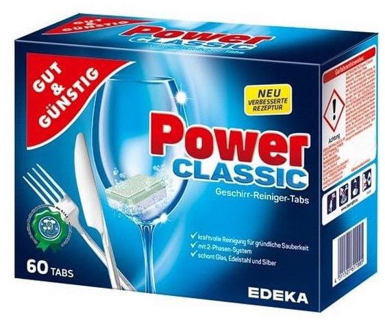 Trauku mazgājamās mašīnas kapsulas Edeka Power Classic, 60 gab.