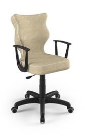 Vaikiška kėdė Entelo Norm Size 6 VS26, juoda/kreminė, 425x400x1045 mm