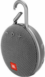 JBL Clip 3 Bluetooth Speaker Stone Grey
