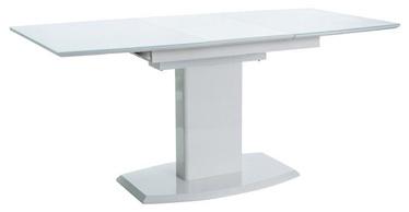 Pusdienu galds Signal Meble Austin White Lacquer, 1200x800x760 mm