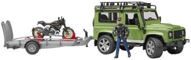 Bruder Land Rover Defender Station Wagon With Trailer 02598