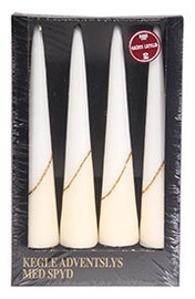Verners Christmas Advent Candles White 353168