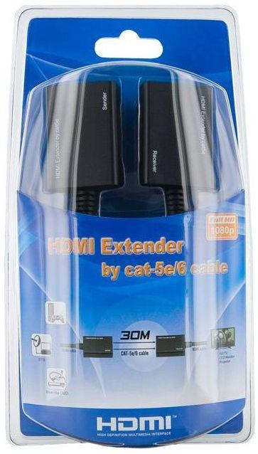 4World 1080p HDMI Extender By Cat 5e/6 RJ45