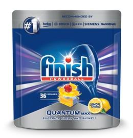 Trauku mazgājamās mašīnas kapsulas Finish Quantum Max Lemon, 36 gab.
