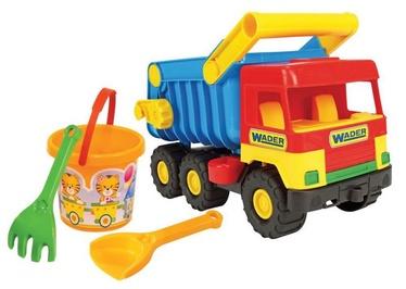 Smilšu kastes rotaļlietu komplekts Wader Middle Truck With Playset, daudzkrāsains, 4 gab.