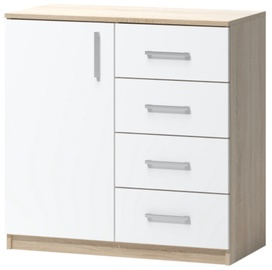 WIPMEB Tatris 02 Chest Of Drawers Sonoma Oak/White