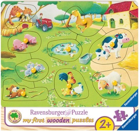 Ravensburger My First Wooden Puzzle Farm Animals 9pcs 036837
