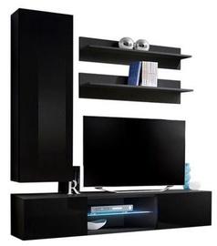 Dzīvojamās istabas mēbeļu komplekts ASM Fly S1 Black