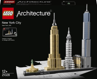 Konstruktor LEGO Architecture New York 21028, 598 tk