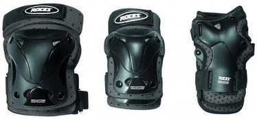 Roces SJR Ventilated Three Pack Black