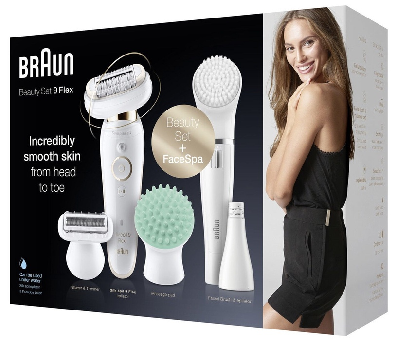 Braun Silk-épil 9 Flex SES9300 Epilator + FaceSpa White