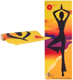 inSPORTline Yoga Mat Medita Yellow Pose