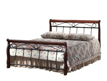 Signal Meble Venice Bed 90x200cm Antique Cherry