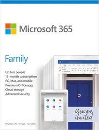 Microsoft Office 365 Family Retail 1-Year Latvian License Medialess