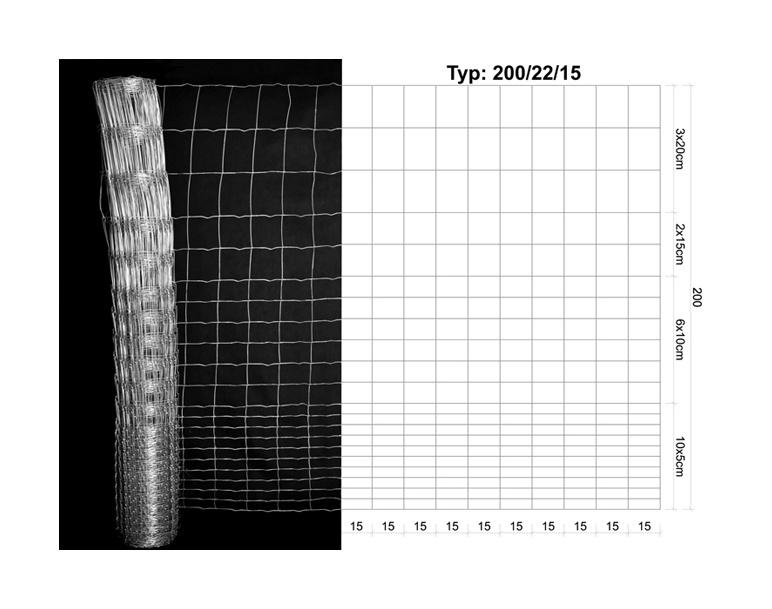 Loomavõrk 200/22/15mm, 50m