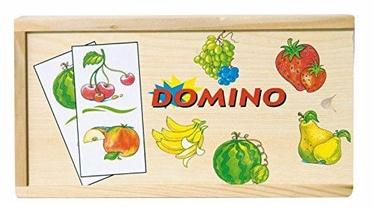 Stalo žaidimas Woodyland Wooden Domino Fruits 28pcs