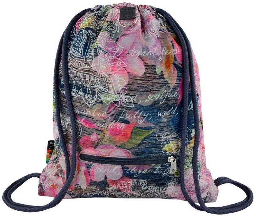 St.Majewski Sport Bag SO-11 Flowers Pink