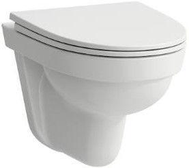 Sienas tualete Laufen Kompas Rimless, ar vāku, 360x500 mm