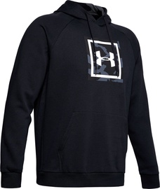 Under Armour Mens Rival Fleece Printed Hoodie 1345636-001 Black S