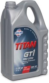Mootoriõli Fuchs Titan GT1 Pro 2312 0W - 30, sünteetiline, sõiduautole, 5 l