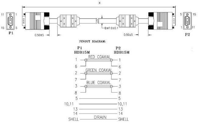 Провод ART Cable VGA / VGA 5m