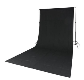 Quadralite Solid Muslin Backdrop 2,85x6m Black