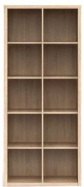 Black Red White Bookshelf Nepo REG/19/8 Sonoma Oak