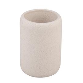 Stiklinė dantų šepetėliams Thema Lux Granit BCO-0597C, smėlio spalvos
