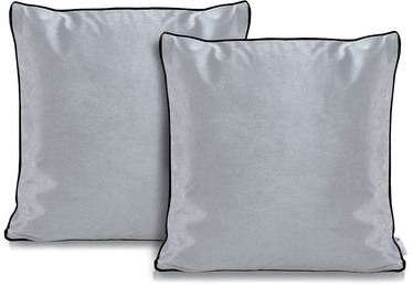 DecoKing Pillowcase Rima Velvet Silver 45x45 2pcs