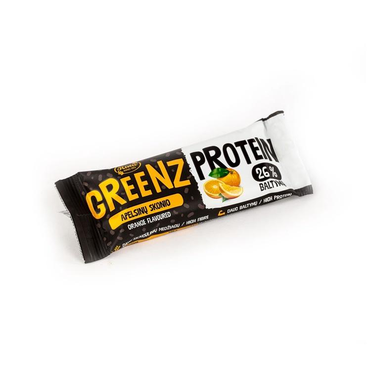 Apelsinų skonio proteininis užkandis Greenz, 34 g