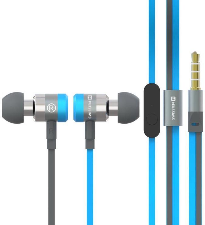 Ausinės Swissten SuperBass YS900 In-Ear Blue