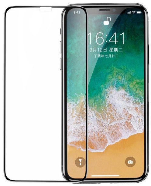 3acc8278ba7 Baseus Screen Protector For Apple iPhone X/XS Black