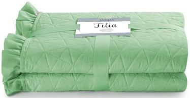 AmeliaHome Tilia Bed Coverlet Mint 260x280cm