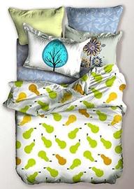Gultas veļas komplekts DecoKing Basic, balta/zaļa, 135x200/80x80 cm