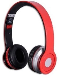 Ausinės Rebeltec Bluetooth Headphone Cristal Red