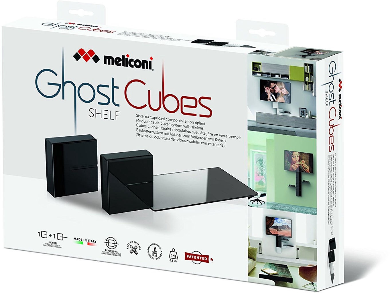 Meliconi Tv Meubel.Televizoriaus Laikiklis Meliconi Ghost Cubes Shelf Black