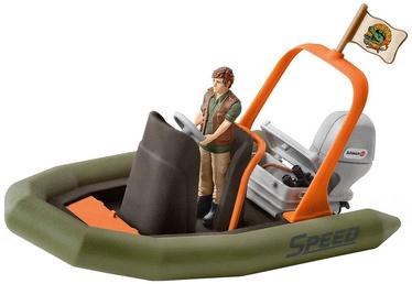 Žaislinė figūrėlė Schleich Dinghy With Ranger 42352