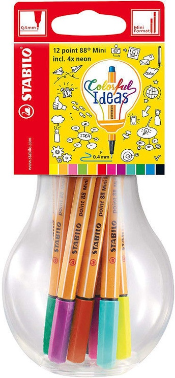 Stabilo Point 88 Mini Colorful Ideas 12pcs
