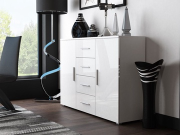 Cama Meble Uni Chest Of Drawers White/White Gloss