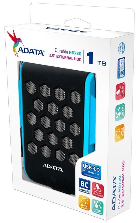 Adata 2.5'' 1TB DashDrive HD720 USB 3.0 Blue