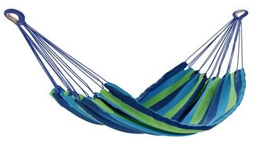 Šūpuļtīkls AmeliaHome Colada, zila/zaļa, 240 cm
