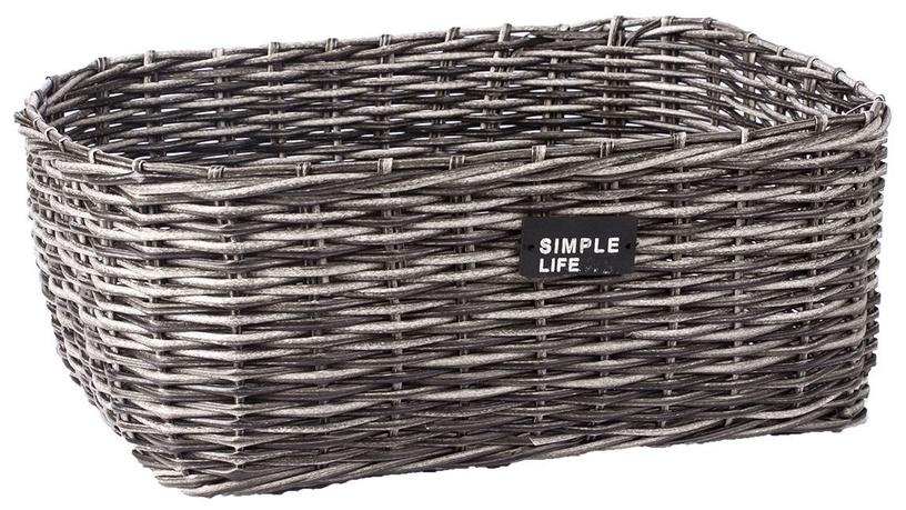 Home4you Basket Ruby-1 44x33x18cm Grey