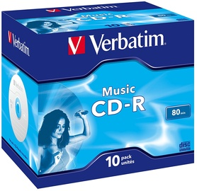 Verbatim Audio CD-R 4X 700MB Music Life Plus Jewel Case