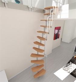Mediniai laiptai Monaco, bukas, 12 pakopų