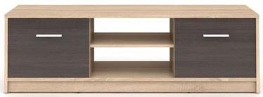 TV galds Black Red White Nepo Plus, brūna/ozola, 1385x465x425 mm