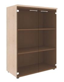Skyland Xten XMC 85.2 Office Cabinet w/ Glass Door Beech Tiara
