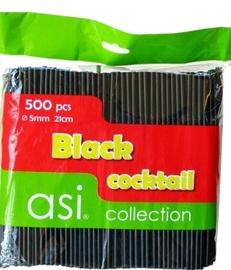 Asi Collection Cocktail Straws Black 500PCS/Ø5mm/21cm